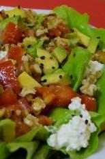 Salada, abacate, Light, segunda-feira