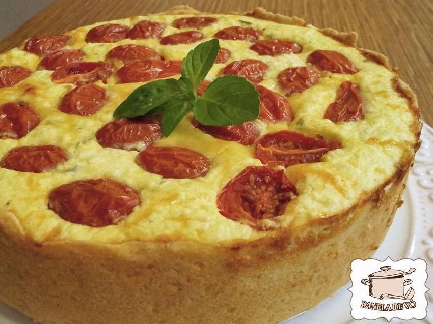 Quiche de ricota com tomatinhos (2)